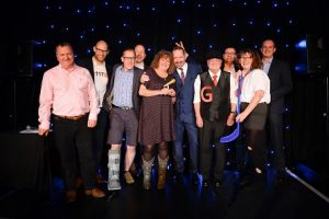 Contestants on stage for Funny Business 2016