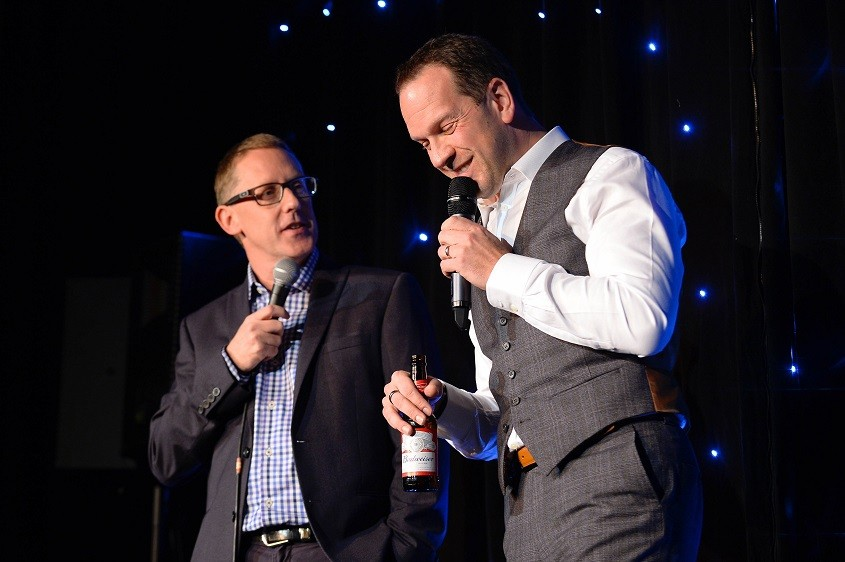 Harvey and Nigel on stage Funny Business 2016